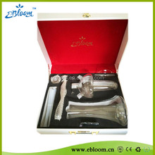 Ebloom hookah wholesale glass hookah all glass shisha with suitcase