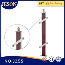stainless steel wood staircase railing post