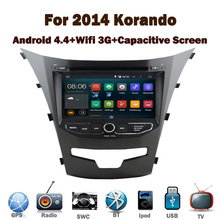 2 din android dvd para el coche GPS para 2014 Ssangyong Korando Wifi 3 G Radio RDS Bluetooth USB IPOD volante