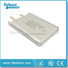 New product 800mah rechargeable lithium polymer battery pack 3.7v for controller
