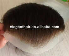 """indian remy hair,6"""",injected thin skin pu toupee"""