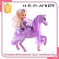 3.5 pulgadas de la niña feliz Kid Toy para 2015 With Plush Pony