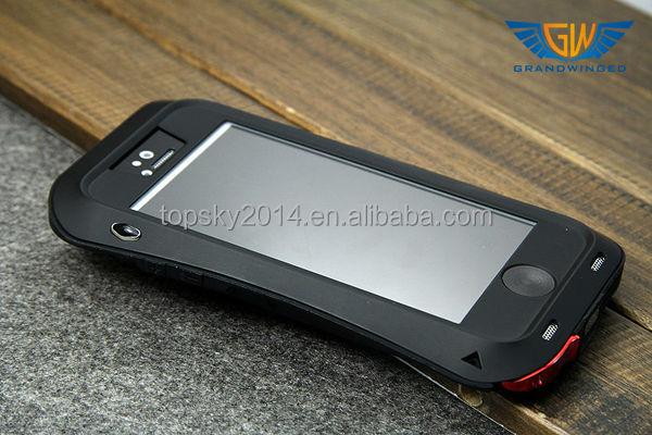 Dirtproof Shockproof Love Mei Case For iPhone 5,Metal Aluminum Gorilla Glass Waterproof Case For iPhone5