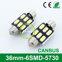 7years factory festoon lighting 36mm-6smd led smd 5730 canbus led auto light