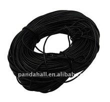 Black Coloured Leather Cord(WL-H003-3)