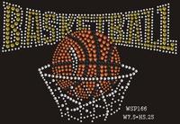 Cool Baseketball Sports Designs Rhinestone Iron On Printing For Garment
