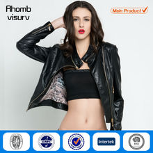 the latest fashion wholesale cheap women pu leather jacket for ladies