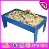 2015 wooden railway train toy for kids,funny wooden railway train set for children,Roller coaster Track table for baby W04C009-x