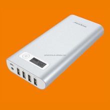 20000mah 4 USB 6.5a Output(1a/1a/2.1a/2.4a) Wopow Power Bank Portable External Battery Packs Fast Charging Aluminum Body Design