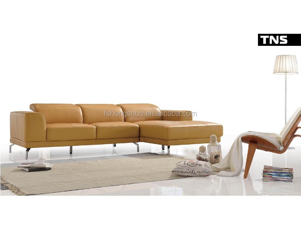 2015 Latest Room Furniture Design L Shape Modern Leather
