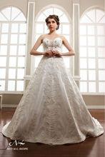 2014 sexy de encaje apliques borla vestido de novia árabe