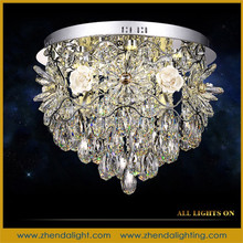 Fashion decoration tasteful crystal pendant lights with crystal drops from led chandelier suppliers in zhongshan china