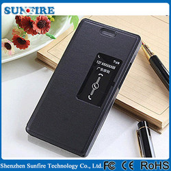 Flip leather smart cover for Huawei ascend p7, smart case for Huawei p7 ascend, for Huawei ascend p7 back cover