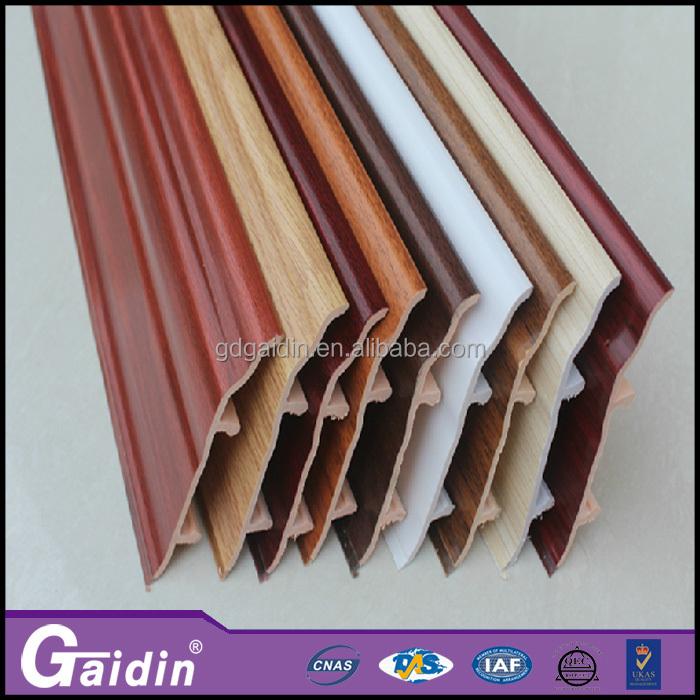 녹 방지 사용자 정의 색상 건축 자재 쉬운 설치 PVC 걸레 받이 ...