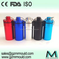 Assorted storage aluminium drug container with keychain