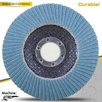 T27 4.5'' abrasive cloth flap disc with sanding paper for stainless steel and inox
