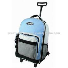 GW-Sc078 Light Blue Name Brand School Bag With Front Net Pocket