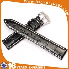 Custom hot new product handmade men crocodile genuine leather watch strap