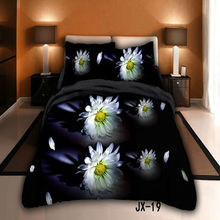 Hot sale Blooms of Darkness 3d printed bed linen set