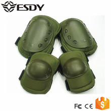 Green Outdoor Tactical Military Airsoft Sport Paintball Knee & Elbow Protective Pads