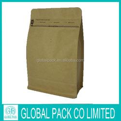 450g Block bottom kraft paper valve bag