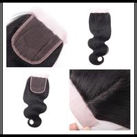 4*4'' Virgin Hair Free Parting Lace Closure, 14 16 18 3pcs Bliss Silk Base Closure, Raw Brazilian Hair Closure