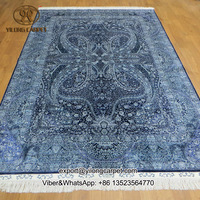 6'x9' FACTORY PRICE!!! Blue persian carpets turkish silk persian rug design for sale