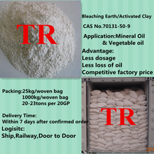 bentonite bleaching earth refining agent and filler for mineral oil and edible oil