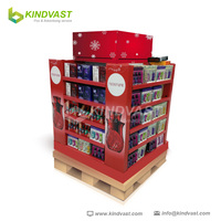 cardboard point of sale pallet display stand