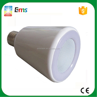 2015 new wireless audio lamp bluetooth speaker with RGB led lamp light E27 led bluetooth speaker