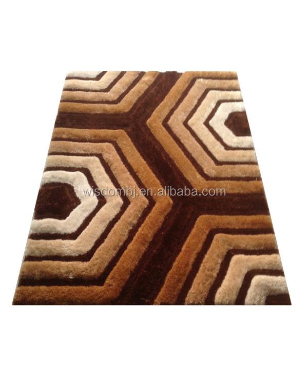 3d Decorative Plain Hotel Polyester Shaggy Carpet Tiles