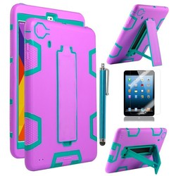 3 parts pc silicon combo gel case for ipad mini cover case,3 in 1 case for ipad mini