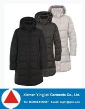 women long coat design knee length winter coat down filling