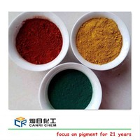 Hot sale purity 95% iron yellow black blue red oxide primer paint for asphalt cold mix/ rubber mould paver