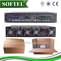 Softel 1550nm FTTx High Power PON Multi-Outputs CATV CATV Signal Amplifier with Gain and Equalizer Adjustment