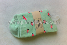 Green unique design sublimation socks with high quality for promotional