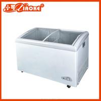 BD-428P top glass slide door chest freezer covers