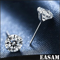 Wholesale price 925 Sterling Silver Stud Earring with 3A zircon
