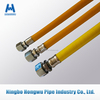 Yellow flexible gas hose