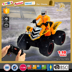 2016 new rc motorcycle toy 1:10 4 wheel motorcycle for kids