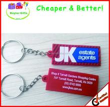 Rubber Logo printed or raised custom keychain