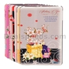 Manleybird Crystal Diamond Slim Tri-Fold Design Flip Stand PC+Leather Cover Case for iPad Mini 2