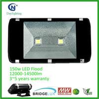 5 YEARS warranty Bridgelux chip IP65 waterproof 150 watt led flood light
