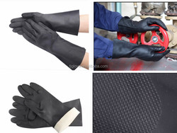 China manufacturer of black industrial latex glove