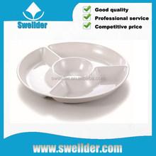 Custom order vaccum forming plastic round divided plate
