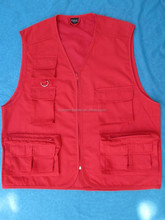 Plain Fabric Fishing Vest for Men