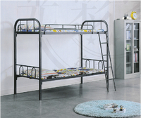 metal frame double bunk bed