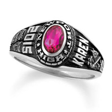 Female High school Class ring for graduation memory