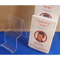 Acrylic Easel Stands Book Holder, 2 tiers Acrylic Display Riser for Book and Brochure