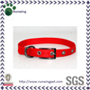 Customized Red Plain Nylon Dog Collar with Gumetal Buckle